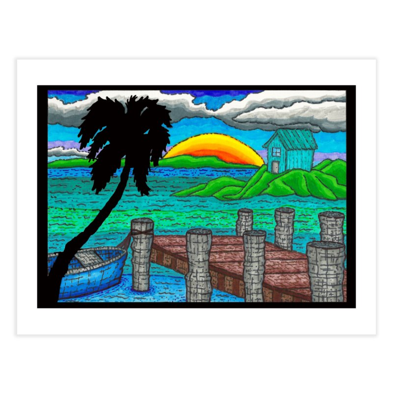 Paradise Home Fine Art Print by Paxton's Artist Shop