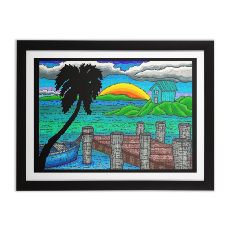 Paradise Home Framed Fine Art Print by Paxton's Artist Shop