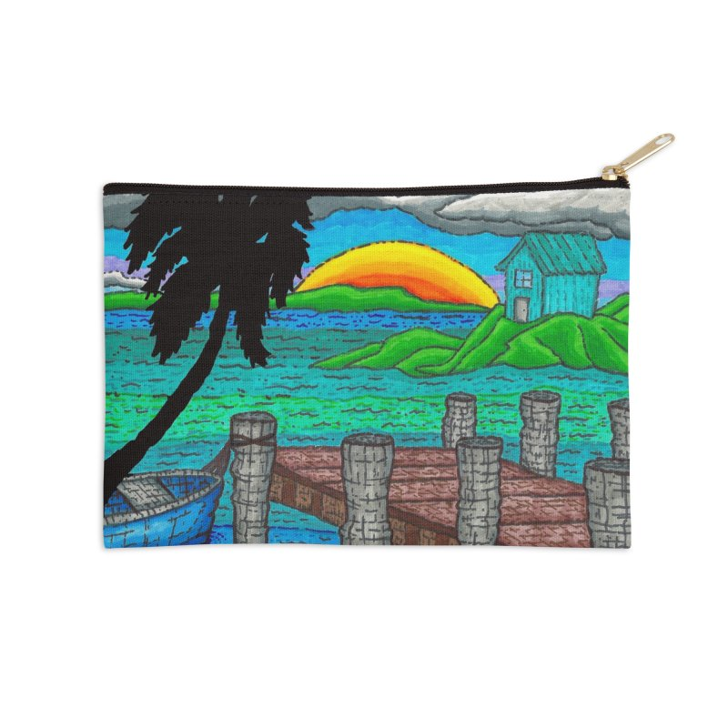 Paradise Accessories Zip Pouch by Paxton's Artist Shop