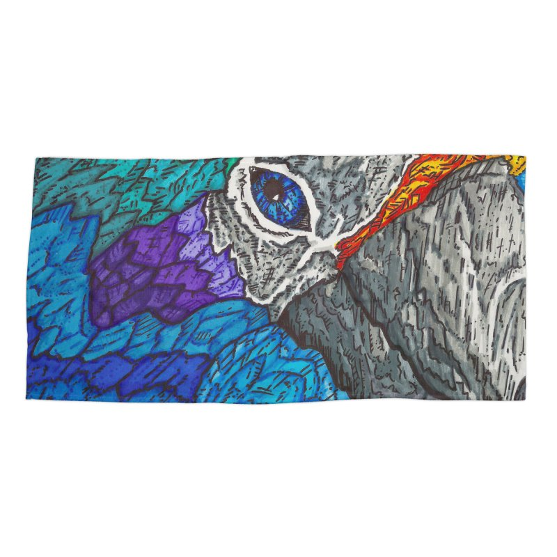 Parrot Accessories Beach Towel by Paxton's Artist Shop