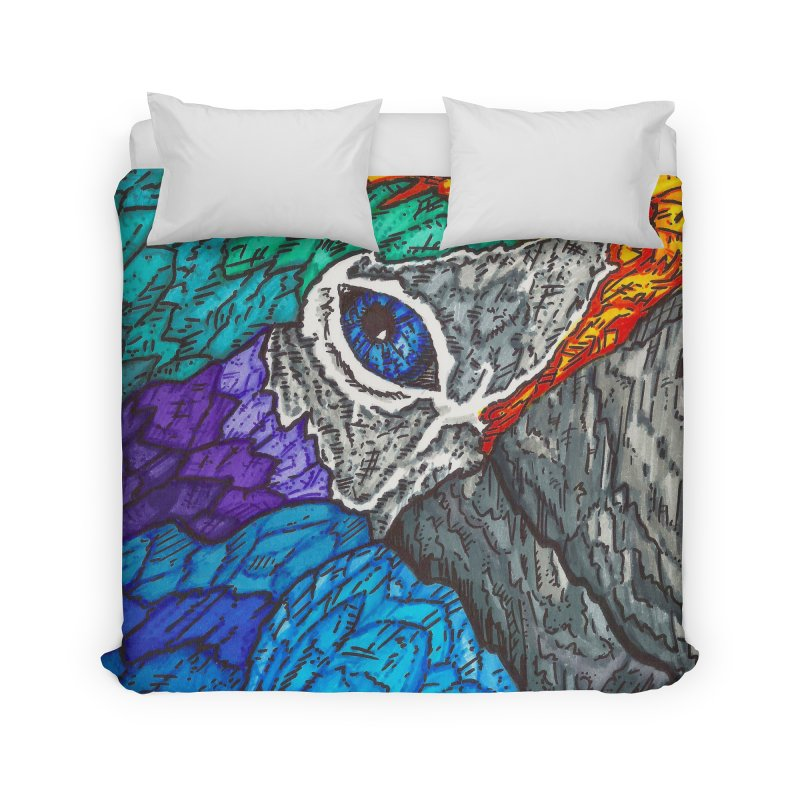 Parrot Home Duvet by Paxton's Artist Shop