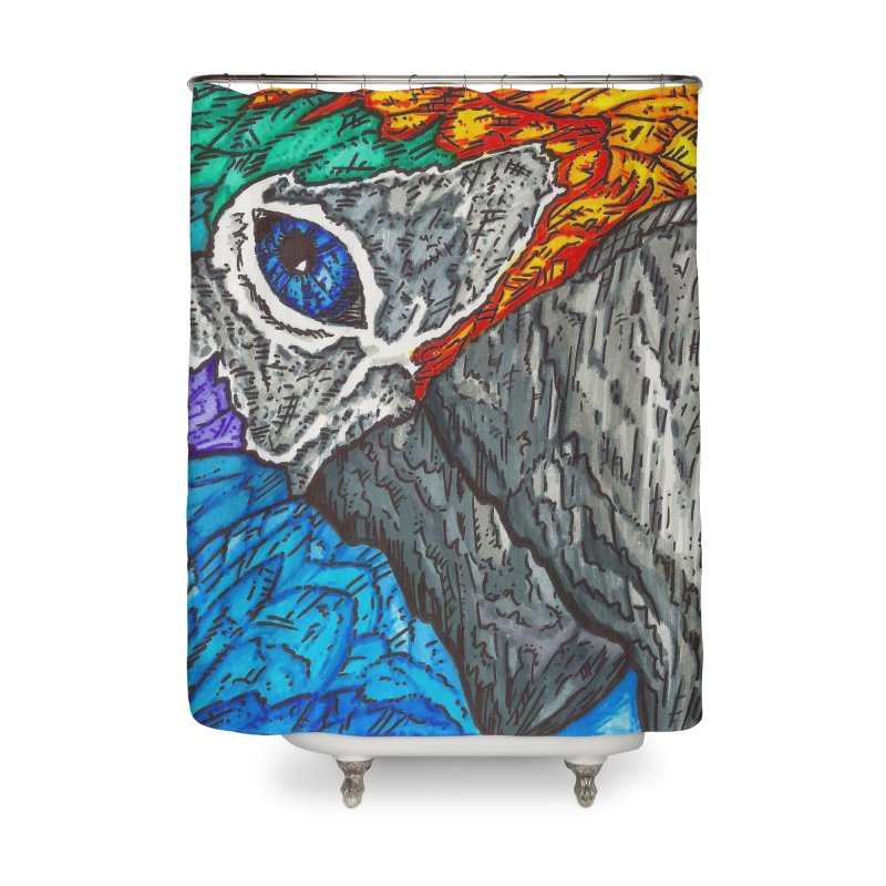 Parrot Home Shower Curtain by Paxton's Artist Shop