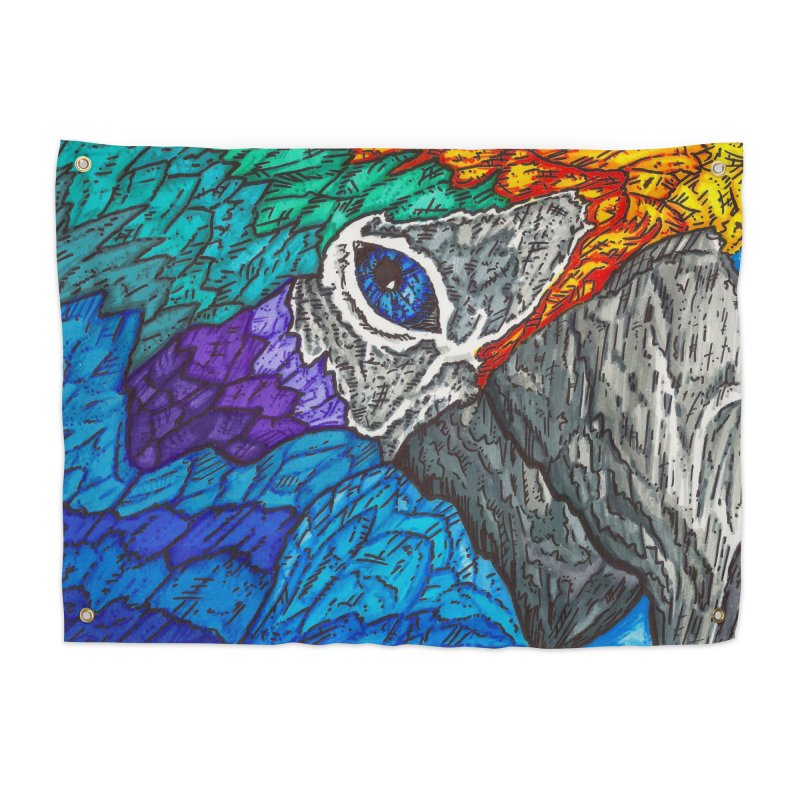 Parrot Home Tapestry by Paxton's Artist Shop