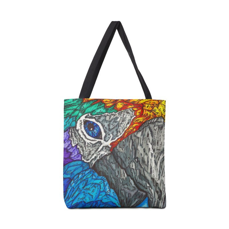 Parrot Accessories Tote Bag Bag by Paxton's Artist Shop