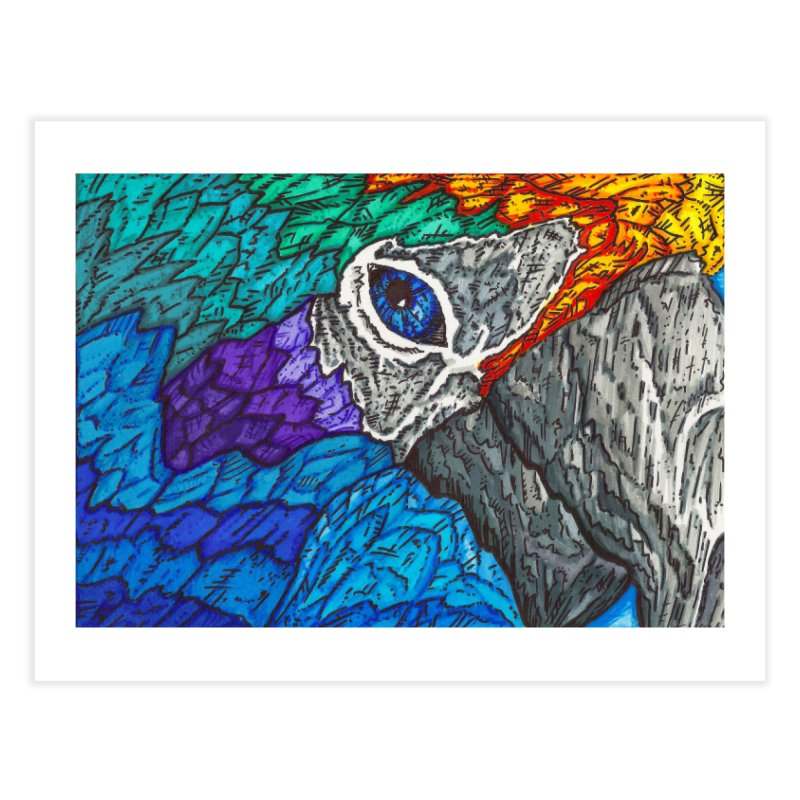 Parrot Home Fine Art Print by Paxton's Artist Shop