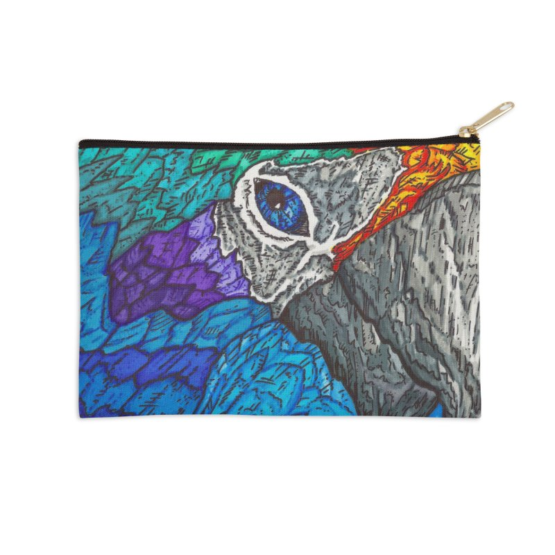 Parrot Accessories Zip Pouch by Paxton's Artist Shop