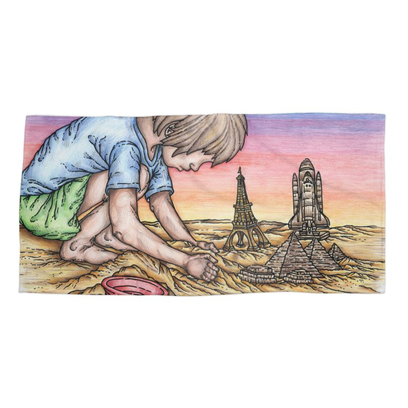 Hands of Time Accessories Beach Towel by Paxton's Artist Shop