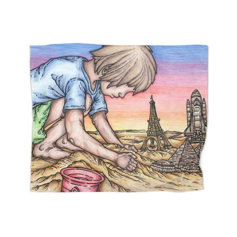 Hands of Time Home Blanket by Paxton's Artist Shop