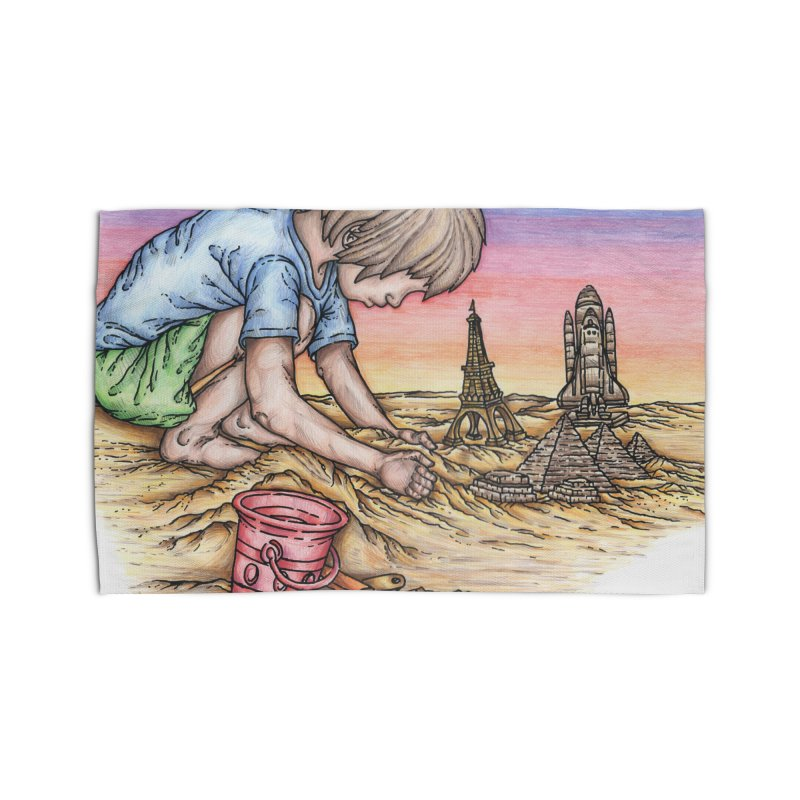 Hands of Time Home Rug by Paxton's Artist Shop