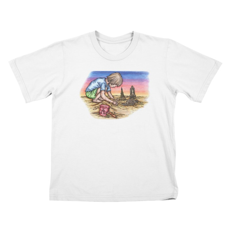 Hands of Time Kids T-Shirt by Paxton's Artist Shop