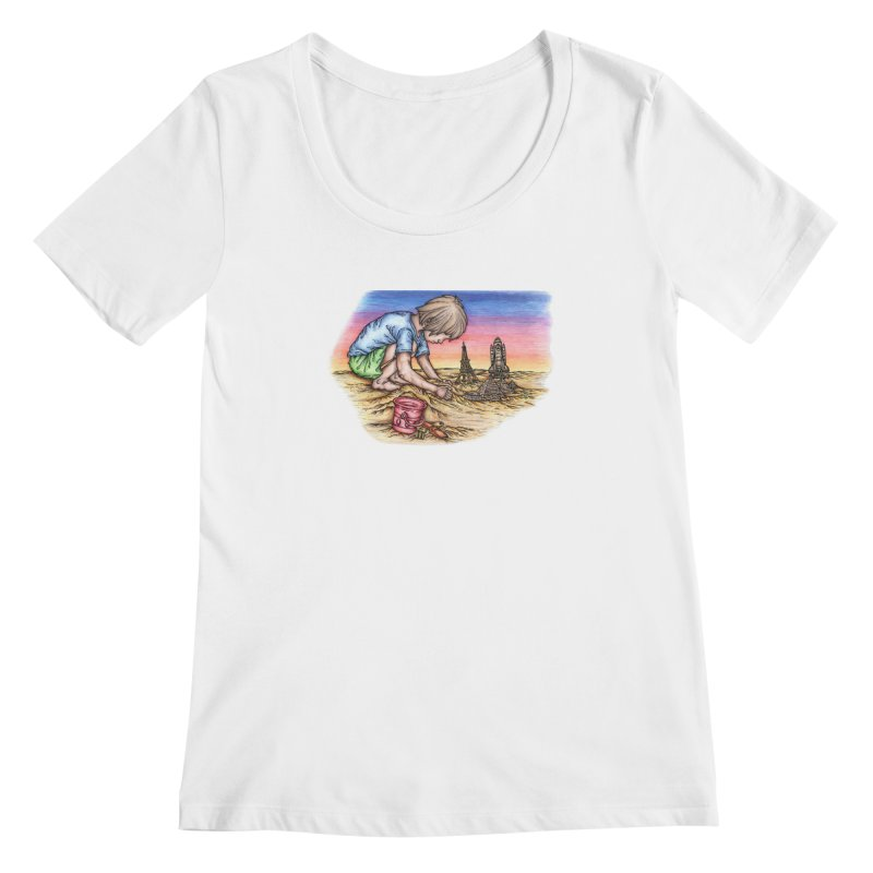 Hands of Time Women's Scoopneck by Paxton's Artist Shop