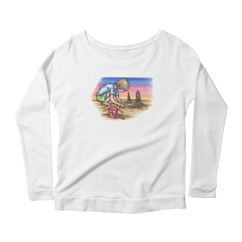 Hands of Time Women's Longsleeve Scoopneck  by Paxton's Artist Shop