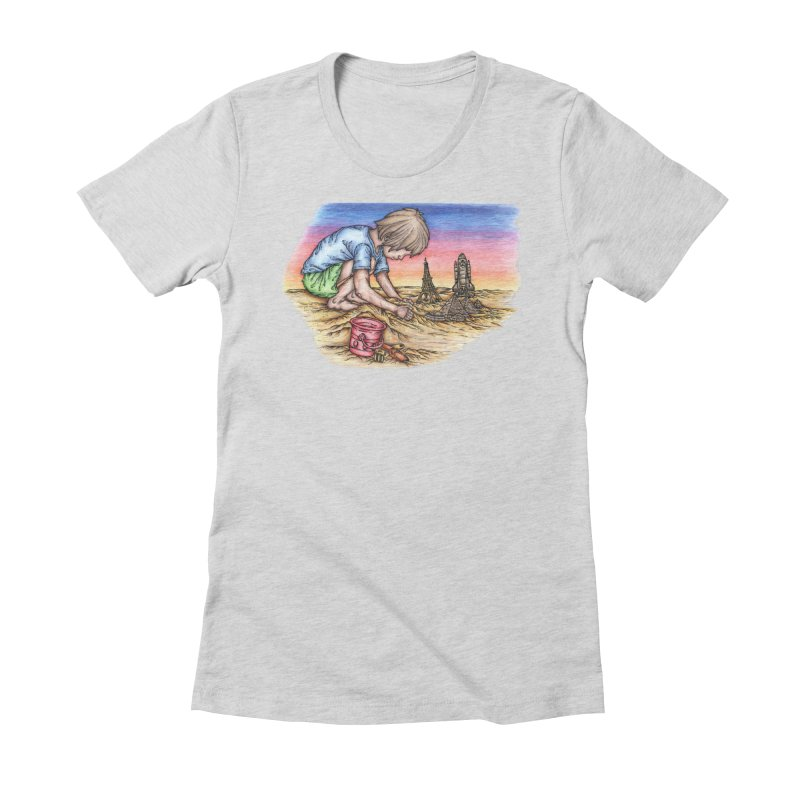 Hands of Time Women's Fitted T-Shirt by Paxton's Artist Shop