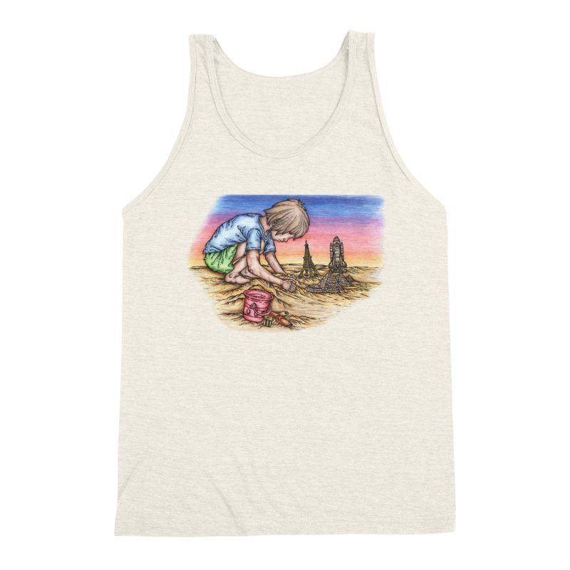 Hands of Time Men's Triblend Tank by Paxton's Artist Shop