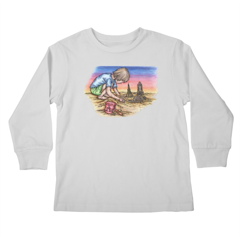 Hands of Time Kids Longsleeve T-Shirt by Paxton's Artist Shop