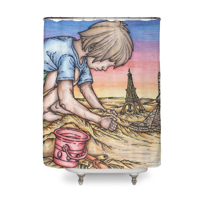 Hands of Time Home Shower Curtain by Paxton's Artist Shop