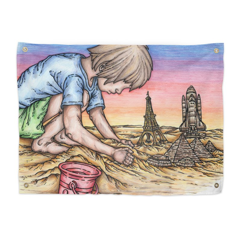 Hands of Time Home Tapestry by Paxton's Artist Shop