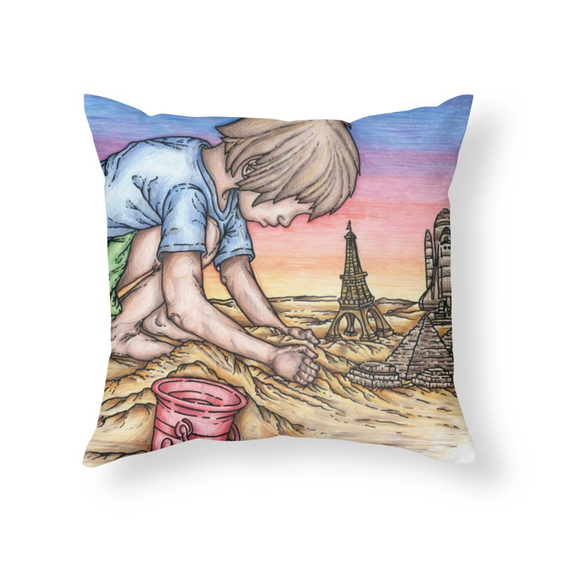 Hands of Time Home Throw Pillow by Paxton's Artist Shop