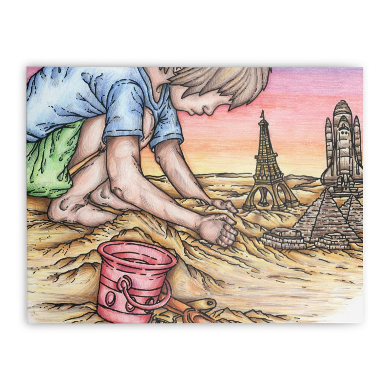 Hands of Time Home Stretched Canvas by Paxton's Artist Shop