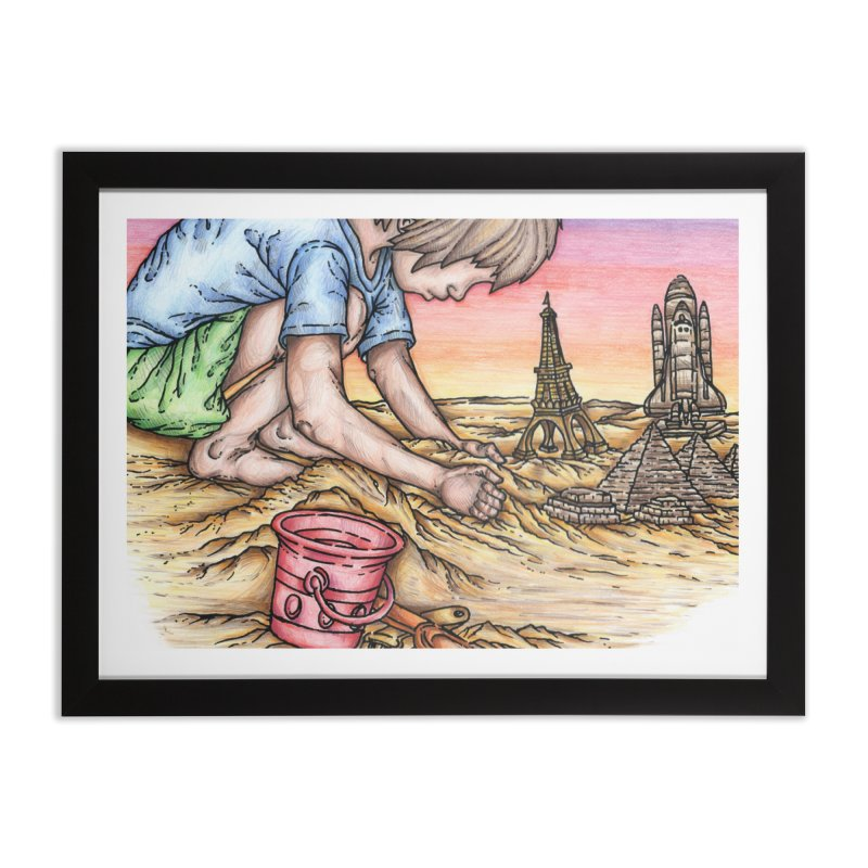 Hands of Time Home Framed Fine Art Print by Paxton's Artist Shop