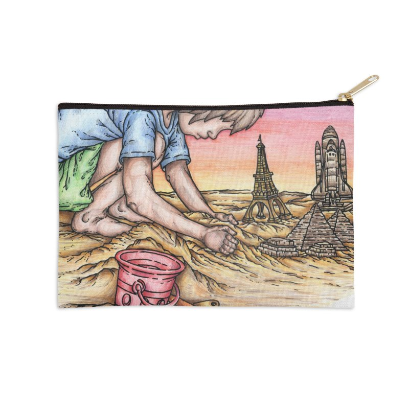 Hands of Time Accessories Zip Pouch by Paxton's Artist Shop