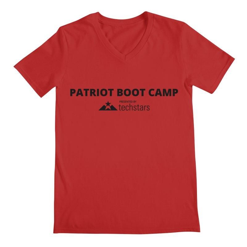 PBC x Techstars Logo Shirts Men's V-Neck by Patriot Boot Camp Shirt Shop