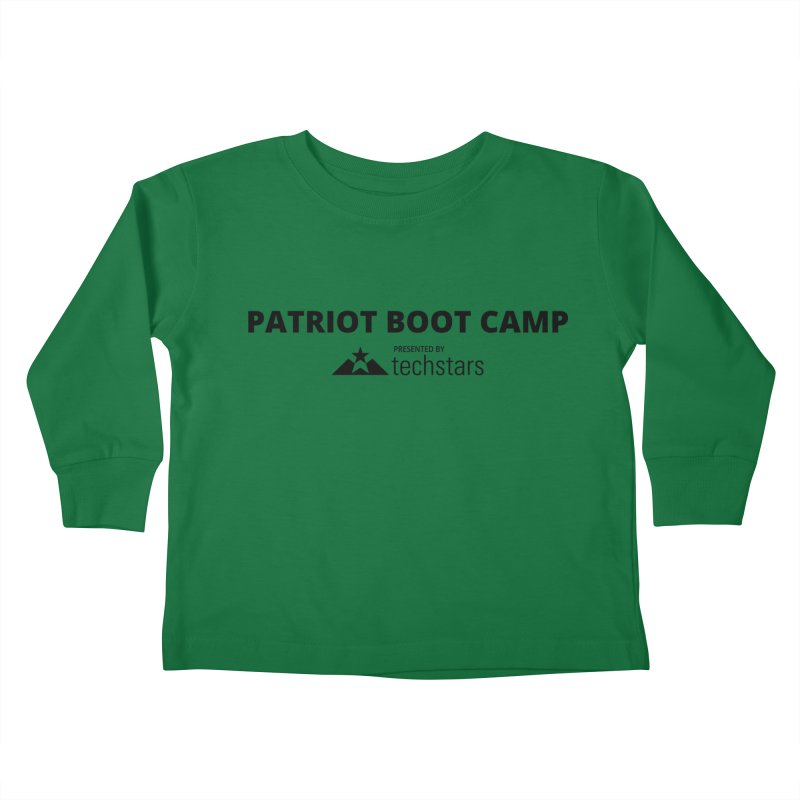 PBC x Techstars Logo Shirts Kids Toddler Longsleeve T-Shirt by Patriot Boot Camp Shirt Shop