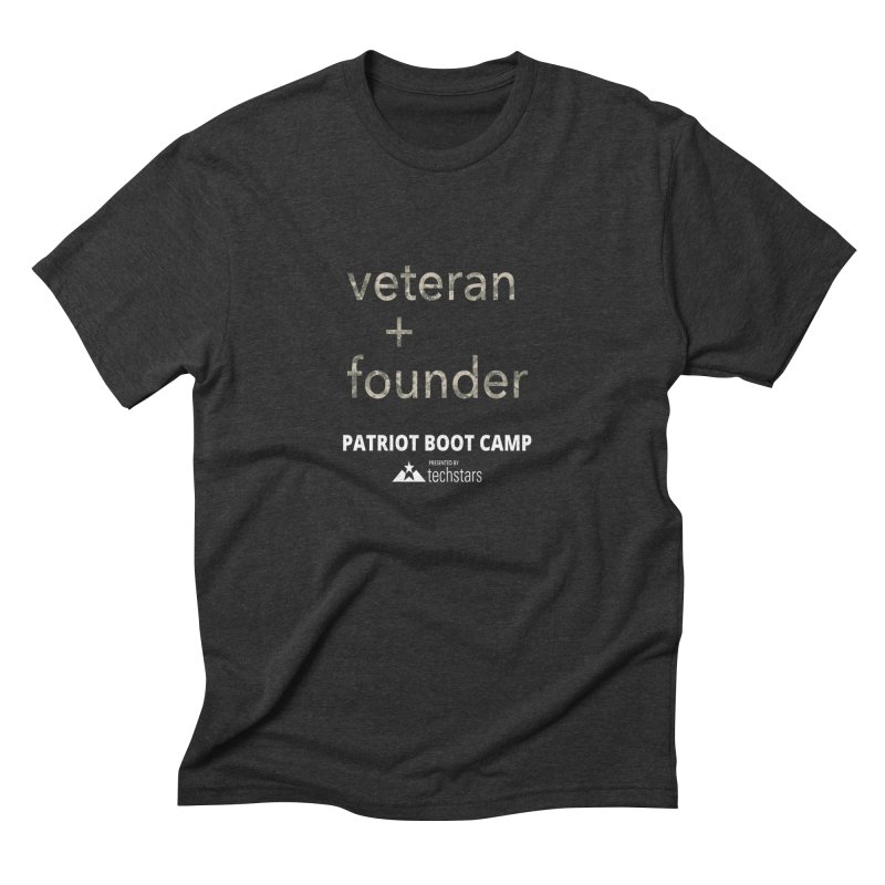 Veteran + Founder Men's Triblend T-shirt by Patriot Boot Camp Shirt Shop