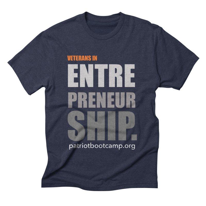 Veterans in Entrepreneurship Men's Triblend T-shirt by Patriot Boot Camp Shirt Shop