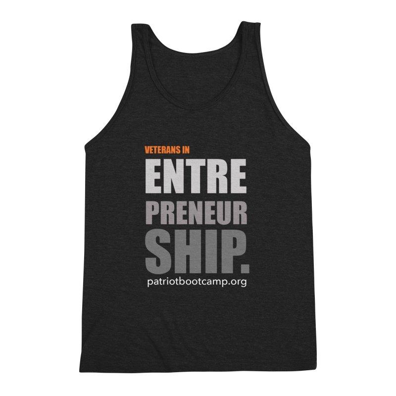 Veterans in Entrepreneurship Men's Triblend Tank by Patriot Boot Camp Shirt Shop