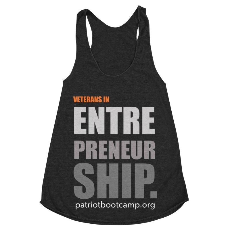 Veterans in Entrepreneurship Women's Racerback Triblend Tank by Patriot Boot Camp Shirt Shop