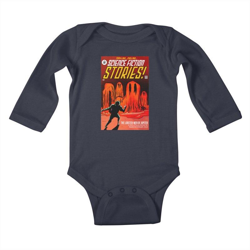 Lobster Men from Mars Kids Baby Longsleeve Bodysuit by Krishna Designs