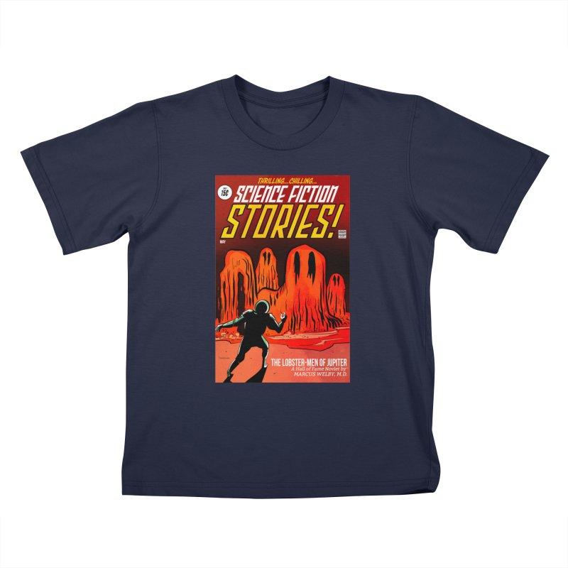 Lobster Men from Mars Kids T-Shirt by Krishna Designs