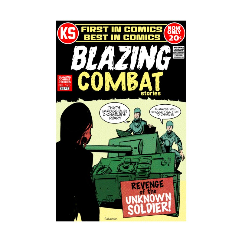 Blazing Combat Home Stretched Canvas by Krishna Designs
