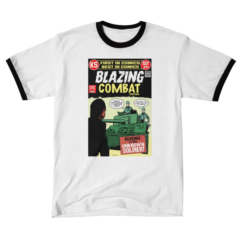 Blazing Combat Men's T-Shirt by Krishna Designs