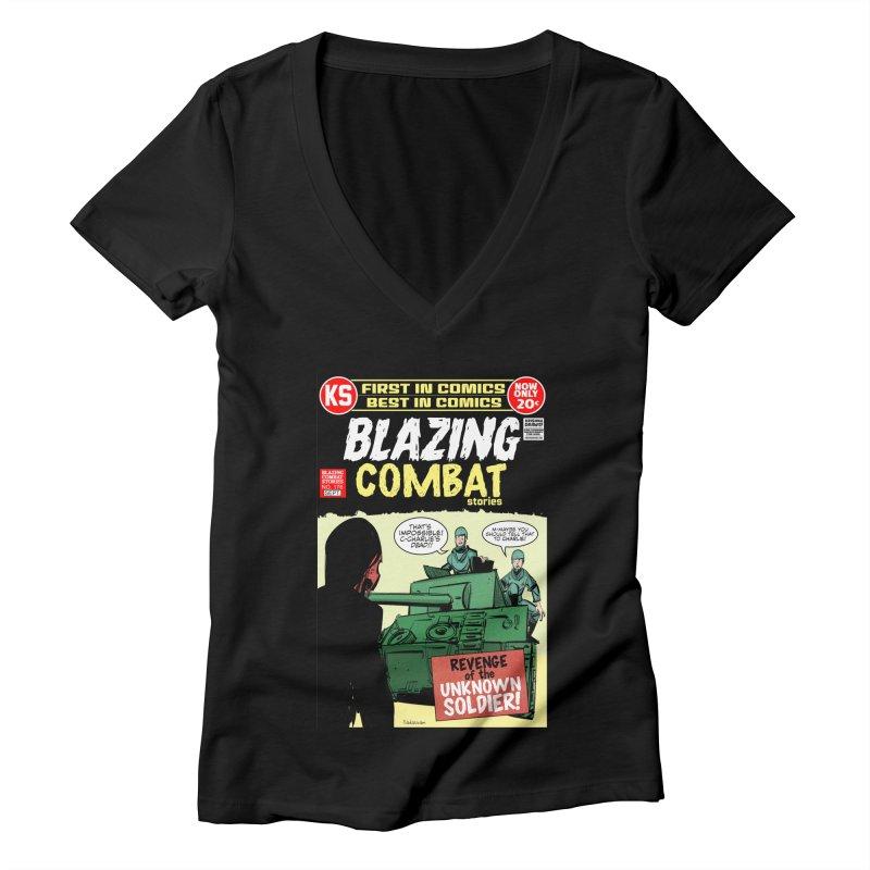 Blazing Combat Women's V-Neck by Krishna Designs