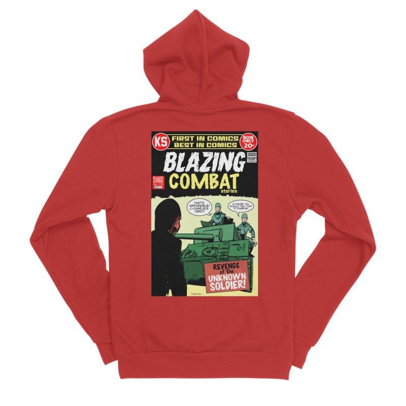 Blazing Combat Men's Zip-Up Hoody by Krishna Designs