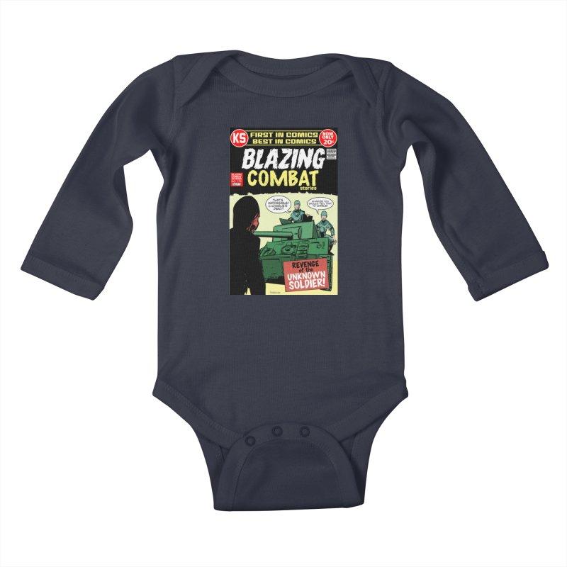 Blazing Combat Kids Baby Longsleeve Bodysuit by Krishna Designs