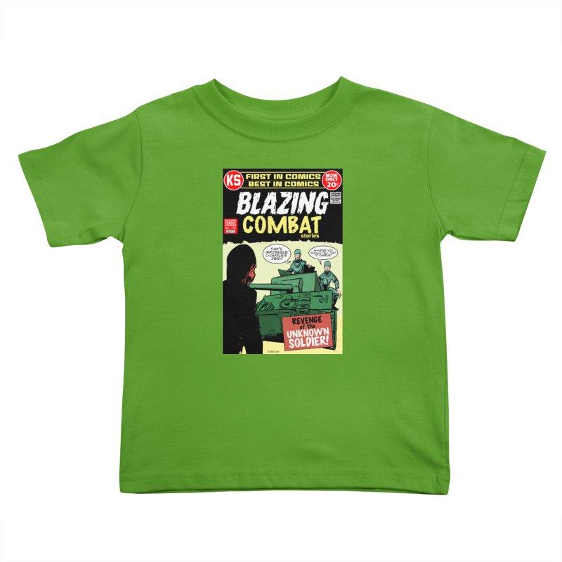 Blazing Combat Kids Toddler T-Shirt by Krishna Designs
