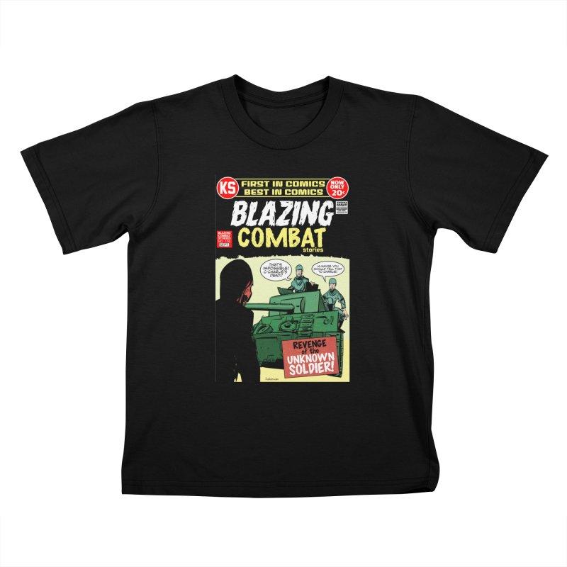 Blazing Combat Kids T-Shirt by Krishna Designs