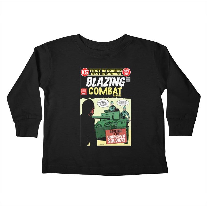 Blazing Combat Kids Toddler Longsleeve T-Shirt by Krishna Designs
