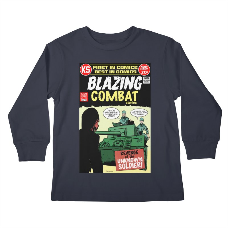 Blazing Combat Kids Longsleeve T-Shirt by Krishna Designs