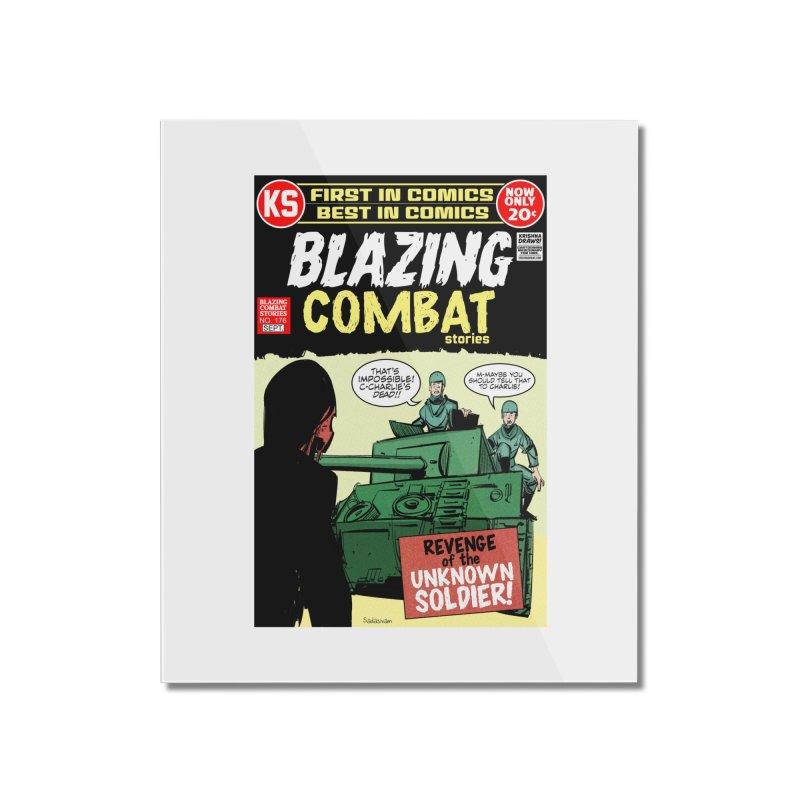 Blazing Combat Home Mounted Acrylic Print by Krishna Designs