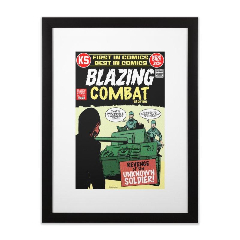 Blazing Combat Home Framed Fine Art Print by Krishna Designs