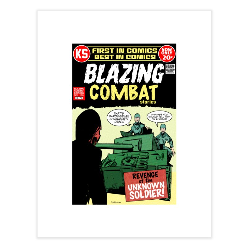 Blazing Combat Home Fine Art Print by Krishna Designs