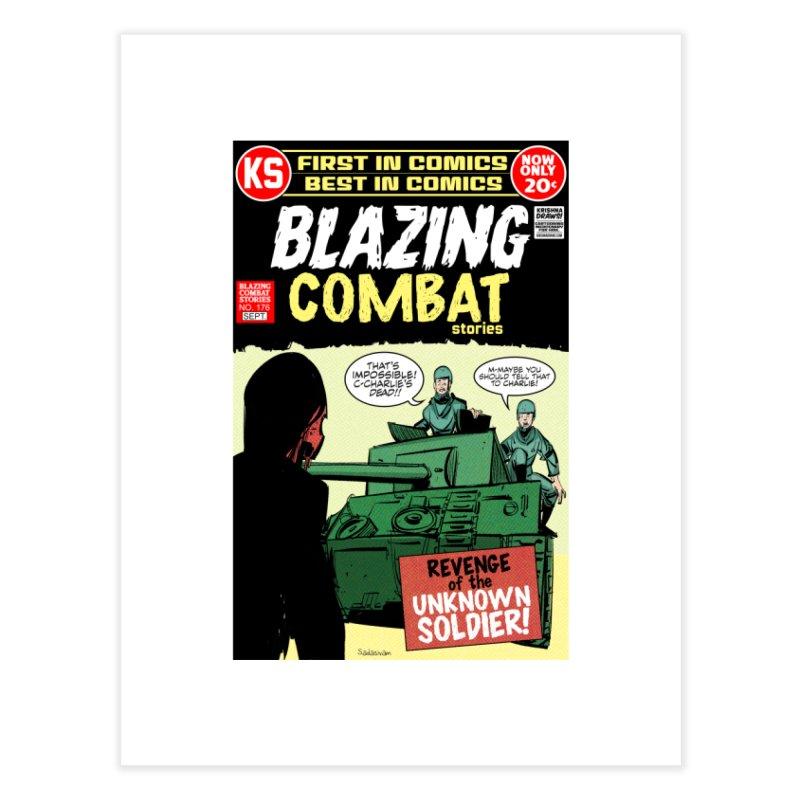 Blazing Combat Home Fine Art Print by Krishna Designs