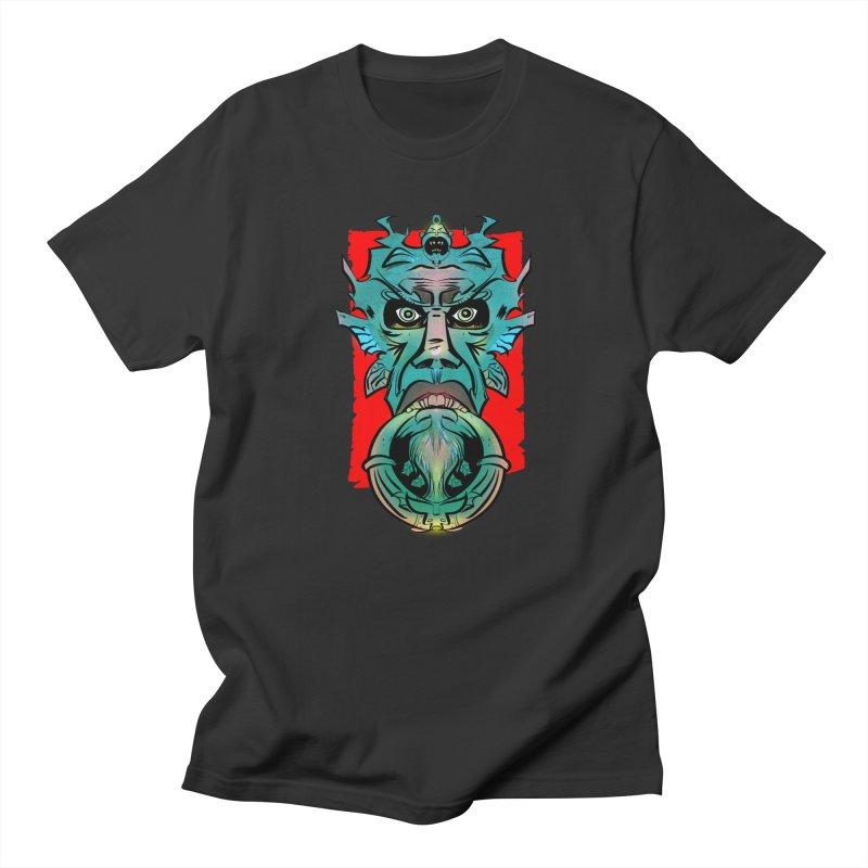 Door Knocker in Men's T-shirt Smoke by Krishna Designs