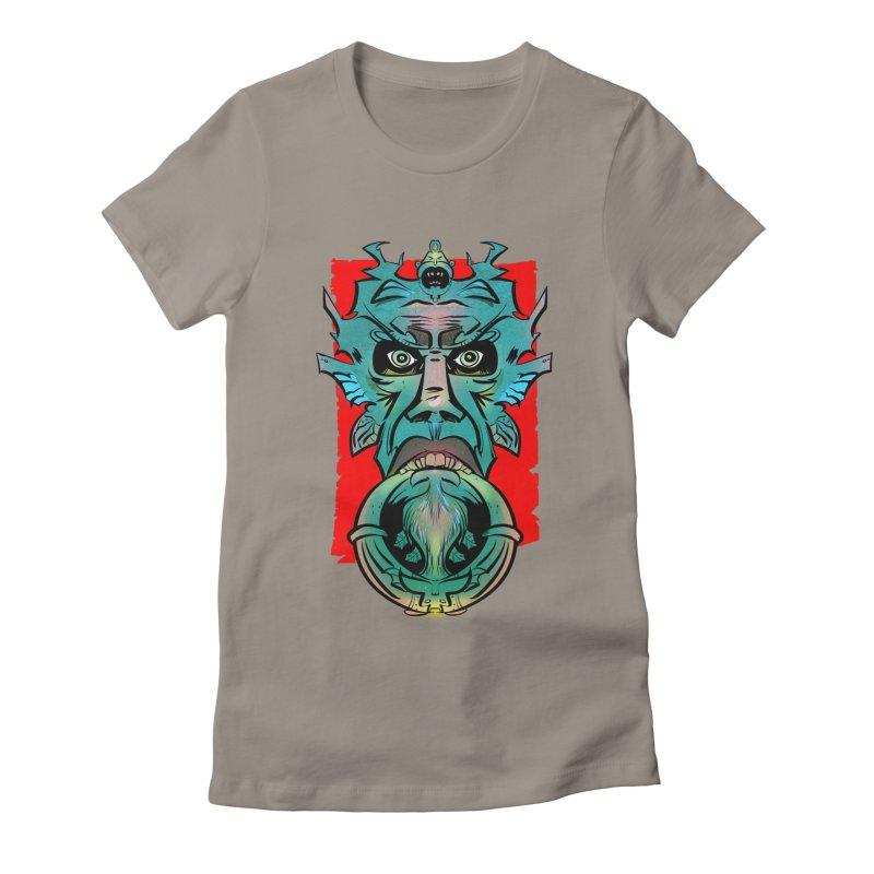 Door Knocker Women's Fitted T-Shirt by Krishna Designs
