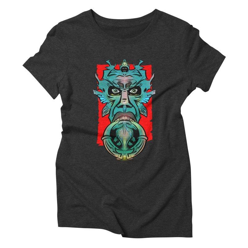Door Knocker Women's Triblend T-shirt by Krishna Designs