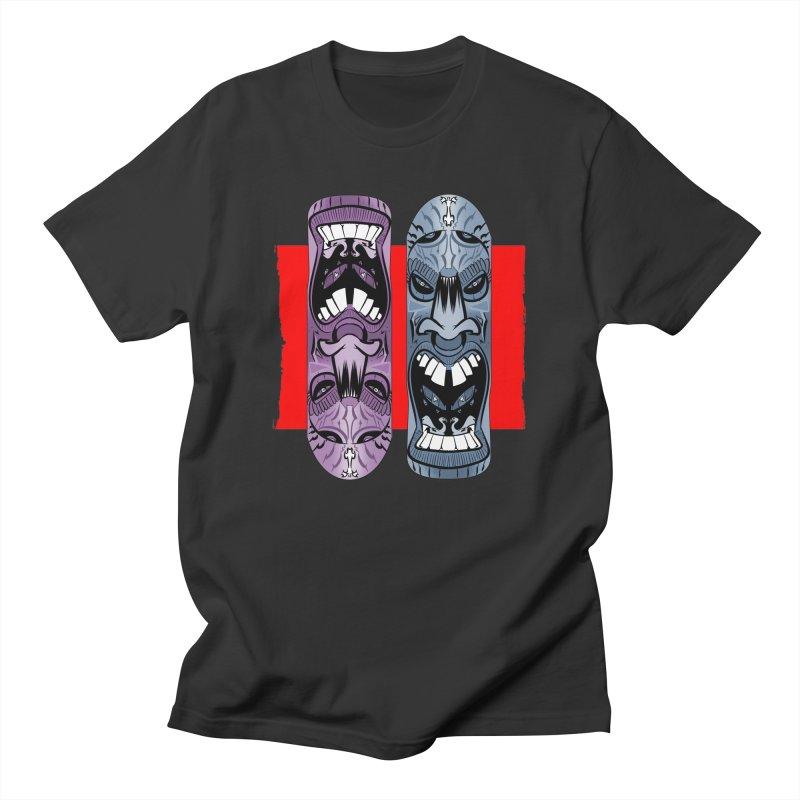 Flipside in Men's T-shirt Smoke by Krishna Designs